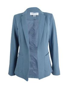 Calvin-Klein-Women-039-s-Petite-Open-Front-Blazer