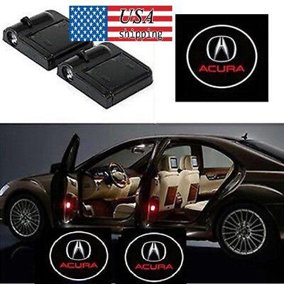 2Pcs For Acura Logo WIRELESS LED CAR DOOR LOGO PROJECTORS LIGHTS USA SHIPPING