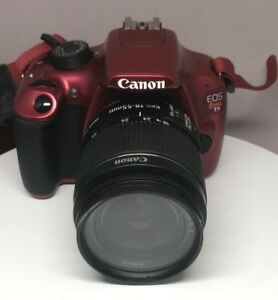 Details About Canon Eos Rebel T5 Red With 18 55mm Lens