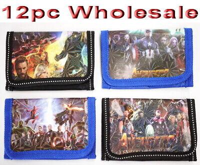 12pc Wholesale Bulk Lots Kids Boys Avengers Purse Wallet Tri-fold Mixed Always Buy Good