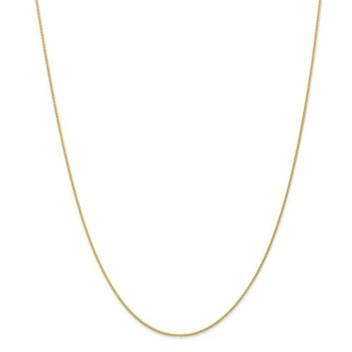 """14k Yellow Gold 0.95mm Solid Parisian Wheat Chain w// Lobster Clasp 14/"""" 30/"""""""