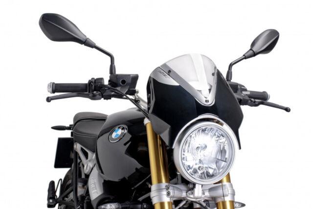 PUIG WINDSHIELD RETRO FOR BMW R NINE T 14-20 CLEAR-BLACK