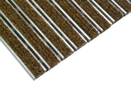picobello Fußmatte Eingangsmatte 59x39cm Aluprofil mit Rips 10mm hoch Türmatte
