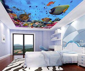 3D Deep Ocean Fish WallPaper Murals Wall Print Decal Wall Deco AJ WALLPAPER