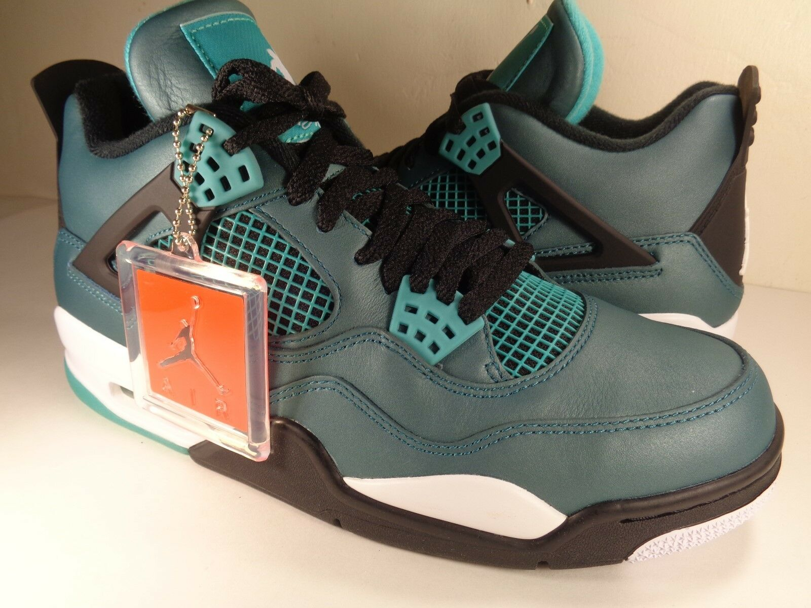 Jordan Nike 4 Retro 30th Nike Jordan Air Anniversary Verde Azulado Blanco Negro (705331330) f7a191