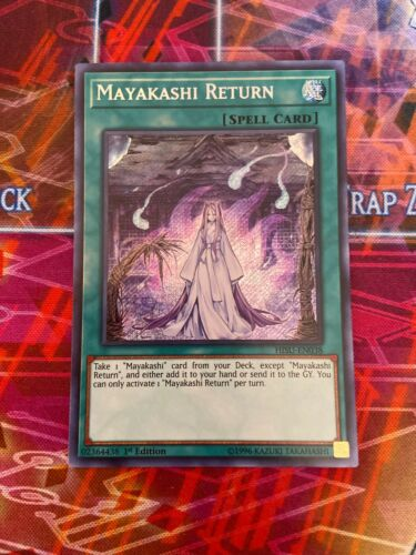 NM Yu-Gi-Oh Secret Rare Mayakashi Return 1st Edition HISU-EN038