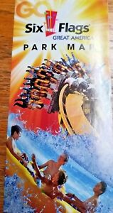 Map Of 6 Flags Great America.Details About Park Map Six Flags Great America 2011 Gurnee Il