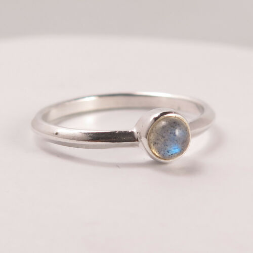 925 Sterling Silver Natural Labradorite Gems Cute Ring Choose Any Size