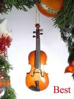 Ov12 5 Violin In Box Christmas Ornament Instrument Music Band Rock Orchestra