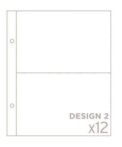 "Becky Higgins Projet Life 6/""x8/"" Photo poche pages conception 2-Pack de 12 97732"