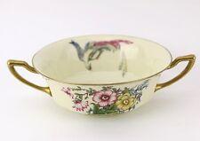Vintage Antique Rosenthal Bavaria Bullion Cup Gold Bird Floral Ivory China