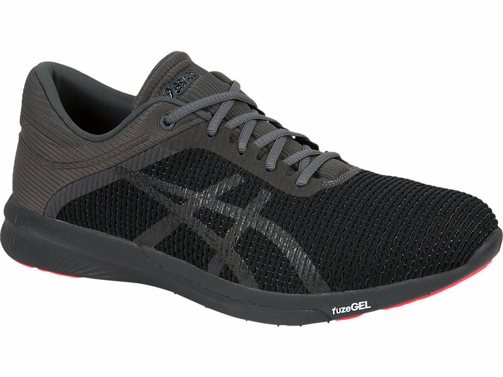 ASICS T7K2N.9095 FUZEX Rush cm Mn' (M) Negro gris Oscuro Coral Zapatos Atléticos De Malla