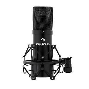 pro micro usb condensateur auna mic 900b mic dj studio cardioide chant voix noir ebay. Black Bedroom Furniture Sets. Home Design Ideas