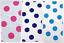 "EM-MinnieMouseSpot-WhtCerise-M 1/"" Large Spot Print Cotton Dress Fabric"