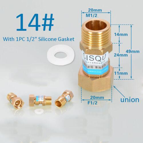 "1pc Socket Female Pipe BSP Fitting Brass Female Thread Reducer Hex 1//2/"" 3//4/"" 1/"""