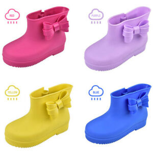 kids girls rain boots rubber wellies boys snow shoes cartoon cute