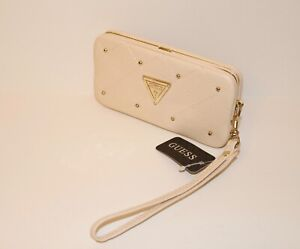 best selling hot sales sports shoes Details about New Guess Cell Phone Case Wristet Clutch Wallet Cream, NWT