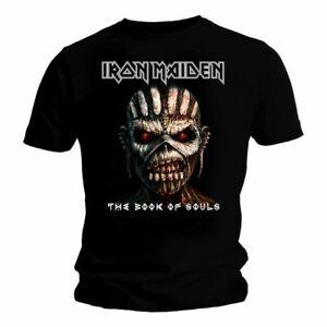 Mens-Iron-Maiden-The-Book-of-Souls-Black-T-Shirt-Unisex-Crew-Neck-Tee