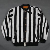 10.deep The Striped Varsity Jacket In Black & White Stripe 10 Deep Free Ship
