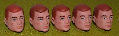VINTAGE ACTION MAN 40th REPLACEMENT HEAD PAINTED RED HAIR