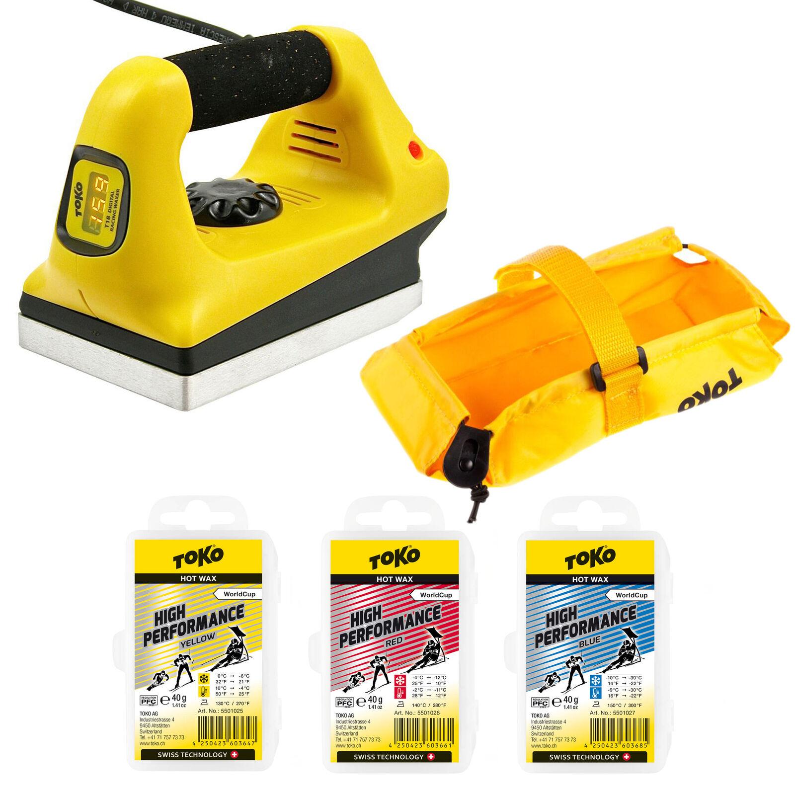 Toko T18 World Cup Digital Iron plus 3 Bars Toko High FluGold Racing Wax