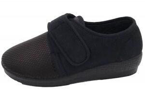 Details zu OrtoMed Klettschuhe Schwarz Verbandschuhe Senioren Problemfüße Schuhe