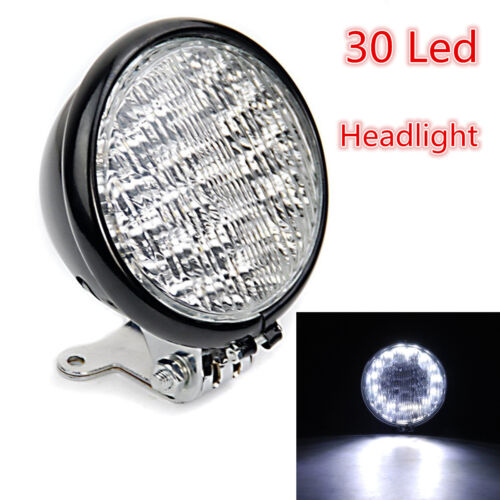 "1pcs High Low Beam 5/""30 LED Headlight Lamp Light Round Lamp Motorcycle Universal"