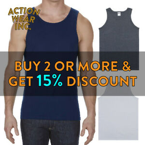 AAA-ALSTYLE-1307-MENS-PLAIN-TANK-TOP-CASUAL-SLEEVELESS-ACTIVE-MUSCLE-TEE-GYM