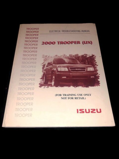 2000 Isuzu Trooper Suv Electrical Wiring Diagram Manual S