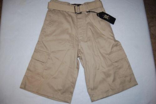 Boys KHAKI DRESS SHORTS /& BELT 6 Pockets BEIGE TAN Size 6-7 8-10 12-14 16-18