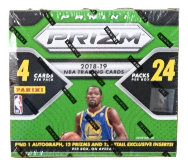 2018-19 Panini Prizm Basketball Retail Box 24 Packs 4 Cards Each Pack Sealed