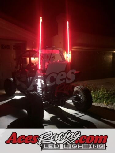 4ft 20 Color 200 Combo LED Whip Quick Connect Flag /& Wiring-OffRoad-UTV-ATV-RZR