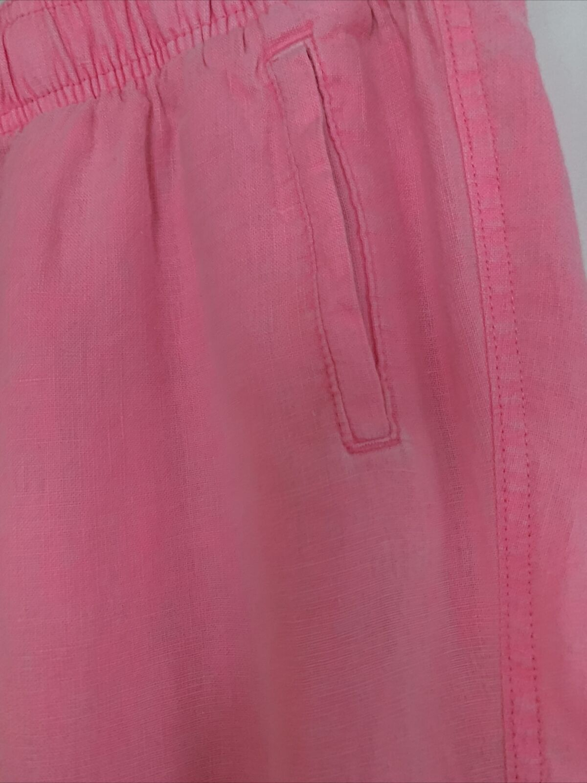"""LILLY PULITZER Linen """"Hot"""" Pink Casual Linen Pant… - image 2"""