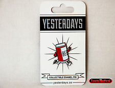 """Beer Run 1"""" Soft Enamel Polished Black Metal Plated Yesterdays.Co Pin"""