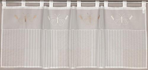 Scheibengardine Schlaufenpanneaux Bistrogardine Kurzgardin 2228 50x140 cm Beige