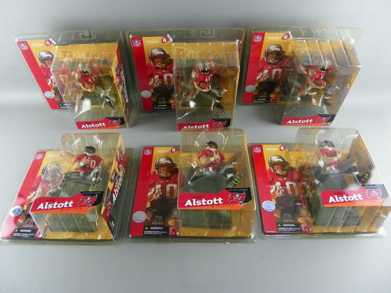 McFarlane NFL Series 6 Mike Alstott Lot of (6) Figures Tampa Bay Buccaneers NEW