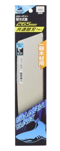 SHARK Scie japonaise scie à bois Simple Edged remplacée dentelé 265 mm Lame en acier