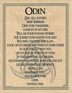 PRAYER-TO-ODIN-Scandanavian-Nordic-God-Invocation-Page-Poster-Pagan-8-1-2-x-11