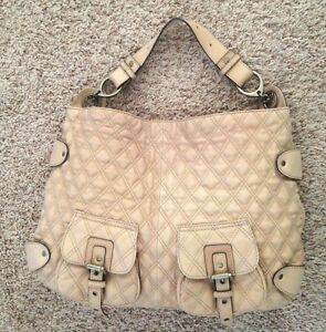 Image Is Loading Tan Quilted 13x18 034 Hype Magnetic Closure Purse