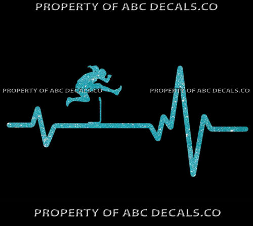 VRS HEART BEAT LINE TRACK /& FIELD Hurdle Hurdles Girl Woman Race CAR METAL DECAL