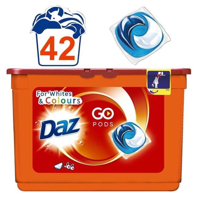 Daz Go Cápsulas Lavado Detergente Limpieza para Blancos & Colores - 42