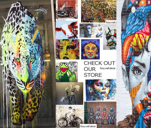 Painting Graffiti Street Art Banksy palm tree rainbow rain Print Canvas Paradise