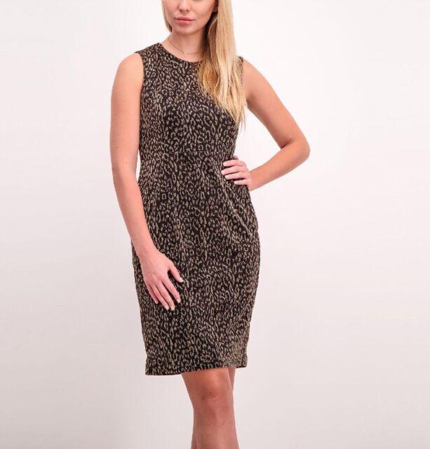 Calvin Klein Women's Sleeveless Animal Flocked Dress $159 Size 14 # 1B 279 N