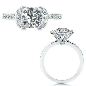 1-Carat-White-Diamond-Ribbon-Anniversary-Solitare-Halo-Promise-Platinum-Ring