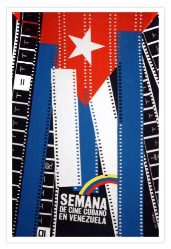 Cuban movie Poster for Semana de cine cubano en VENEZUELA.Cinema flag art design