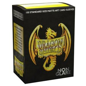 DRAGON-SHIELD-20TH-Anniversary-black-gold-MATTE-CARD-SLEEVES-DECK-PROTECTOR-MTG