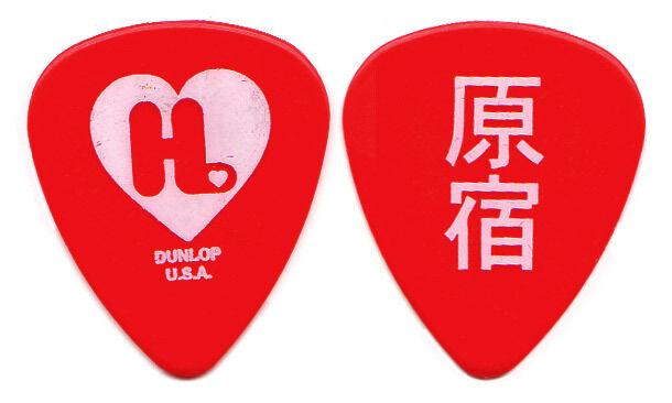 GWEN STEFANI Guitar Pick : 2005 Harajuku Lovers Tour - No Doubt red Japanese