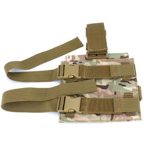 Tactical 5.56mm Double Pistol Magazine Pouch Drop Leg Panel Mag Bag