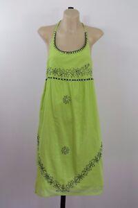 NWT-Size-ISHKA-M-12-Ladies-Sun-Dress-Cotton-Casual-Boho-Chic-Gypsy-Beach-Design