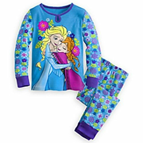 NWT Disney Store Frozen Anna and Elsa PJ PALS for Girls Size 4,5,8  Long Sleeve